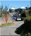 SO4383 : Farm silos, Halford by Jaggery