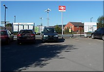 SO4383 : Main entrance to Craven Arms railway station by Jaggery