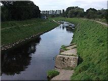 SJ8092 : River Mersey, downstream from Jackson's Bridge by John Rostron