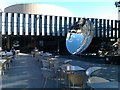 SK5639 : Sky mirror outside Nottingham Playhouse by David Martin