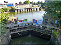 TQ1672 : Half lock, Thames  Young Mariners base by Robin Webster