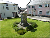 ST6601 : War memorial in the churchyard by Basher Eyre