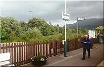 NN1176 : Banavie Station by Mary and Angus Hogg