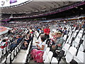 TQ3784 : Olympic stadium seats with light paddles by David Hawgood
