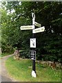 SK0182 : Canal signpost on the Peak Forest Canal by Graham Hogg