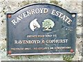 SE1039 : Sign at entrance to the Ravenroyd Estate, Bingley by Humphrey Bolton