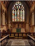 TQ1649 : St Martin's Dorking, Chancel, Altar and East Window by David Dixon