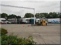 SJ7760 : Lorry Park, Sandbach Services, M6 Southbound by David Dixon