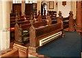 TL8367 : All Saints, Fornham All Saints - Pews by John Salmon