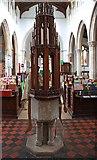 TL8866 : Holy Innocents, Great Barton - Font by John Salmon