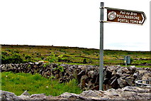 M2300 : The Burren - R480 - Poulnabrone Portal Tomb Sign at Parking Area Entrance by Suzanne Mischyshyn