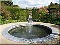 NU1913 : The Alnwick Garden : The Western Circular Pool In The Walled Garden by Richard West