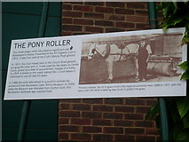 TQ2472 : The Pony Roller Notice at Wimbledon by David Hillas