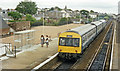 NO5634 : Carnoustie station, with DMU, 1988 by Ben Brooksbank