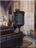 SK3871 : St Mary's & All Saints - Pulpit by Betty Longbottom