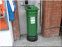 W6872 : Early Victorian post box in Kent Station, Cork by Hywel Williams