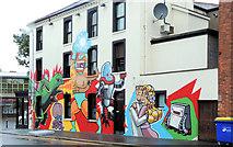 J3372 : Bar mural, Belfast by Albert Bridge