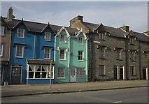 SH7400 : Gabled buildings on Heol Maengwyn, Machynlleth by Derek Harper