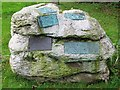 SD9772 : Family gravestone in the churchyard at Kettlewell. by Richard Green