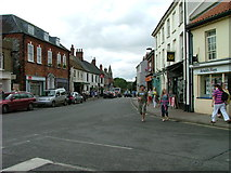 TG0738 : Junction of Market Place and High Street, Holt by Dave Fergusson