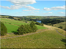 SE0118 : View east-southeast from Baitings Reservoir Dam (1) by John Topping