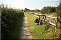 SK6636 : Grantham Canal towpath by Richard Croft