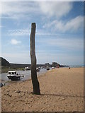 SS2006 : Mooring post at Bude Haven by Rod Allday