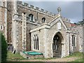 TL9162 : St Mary, Rougham - Porch by John Salmon