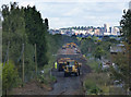 SK5635 : Clearing the embankment by Alan Murray-Rust