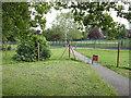 SK5036 : Closed footpath, Inham Nook  by Alan Murray-Rust
