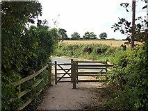 SU8402 : Gate on Salterns Way by Robin Webster