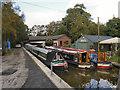 SJ9483 : Macclesfield Canal, Boatyard at Higher Poynton by David Dixon