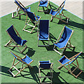 TQ7407 : Deck chairs at De La Warr Pavilion by Oast House Archive