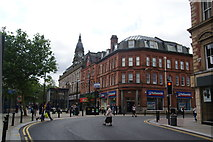 SD7109 : The junction of Knowsley Street and Deansgate by Bill Boaden