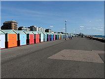 TQ2704 : Beach Huts, Seafront, Hove by PAUL FARMER