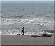TA4115 : Fishing on Kilnsea Beach by Mat Fascione