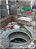 TQ2881 : Crossrail construction, Tenterden Street (1) by Stephen Richards
