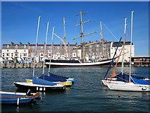 SY6878 : Tall Ship, Weymouth Quay by Roy Hughes