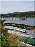 NS0767 : Pier Remains At Port Bannatyne by James T M Towill