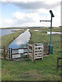 TG0544 : Sluice on Cley Marshes by Pauline E