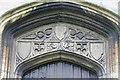 TF0733 : Carvings above West Door, St Andrew's church, Folkingham by J.Hannan-Briggs
