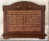 TL3852 : Assumption of the Blessed Virgin Mary, Harlton - War Memorial by John Salmon