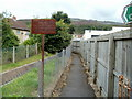 SN8313 : Footpath between a drainage channel and a car centre, Ynyswen by Jaggery