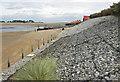 TF9145 : Sea defences, Wells-next-the-Sea by Pauline E