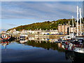 NS0864 : Sunny Evening In The Outer Harbour, Rothesay by James T M Towill