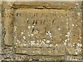 SP2304 : Stone in the wall of a chapel in Filkins by Nick Smith