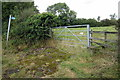 SP7631 : Path and stile into the village by Philip Jeffrey