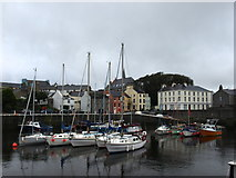 SC2667 : Yachts in Castletown Harbour by Andrew Abbott