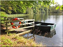 NT4227 : Boat on the Lower Lake, Bowhill by Jim Barton