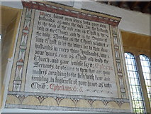 ST6601 : St Mary, Cerne Abbas: wall text (B) by Basher Eyre